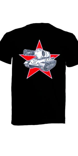 T-Shirt mit Logo The Tank Company schwarz