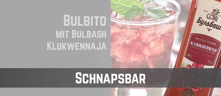 TTC-Schnapsbar-Bulbito mit Klukwennaja Moosbeere Wodka Cocktail