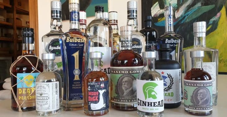 Unser aktuelles Sortimen mit einer großen Auswahl an Wodka, Gin und Rum auf thetankcompany.de