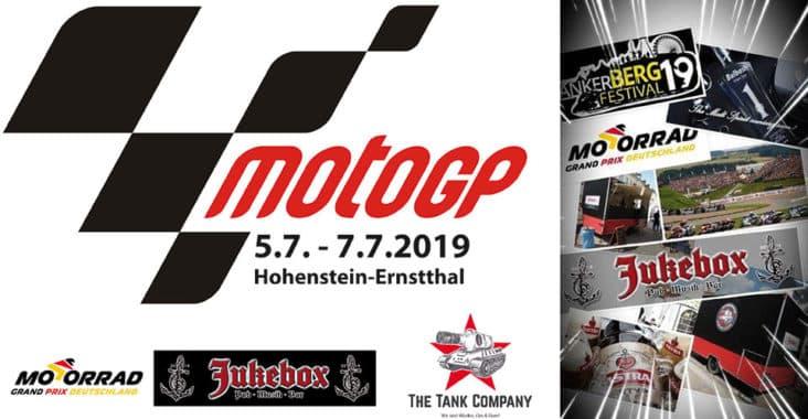 Moto GP Juni 2019 mit der Jukebox Frankenberg und The Tank Company