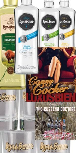 Geschenkpaket 2 mit Bulbash Wodka CD und Wodkagläsern
