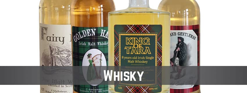 Banner-Produktkategorie-Whisky und Whiskey auf thetankcompany.de