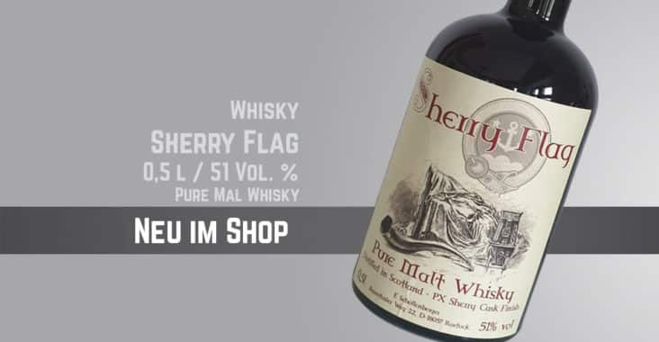 Neu-im-Shop-Whisky Sherry Flag 0,5 l mit-51 Vol %