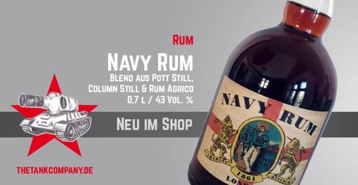 Neu im Shop ist der Navy Rum Charles Kinloch mit 43 Vol %